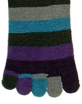 Peacock Stripe Toesock