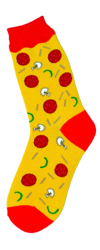 Pizza Womens Socks