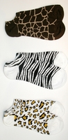 Animal No-Shows Socks 3-pair pack