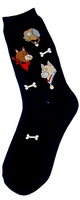 Dog Heads Womens Socks