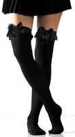 Opaque w/Bow Thigh High